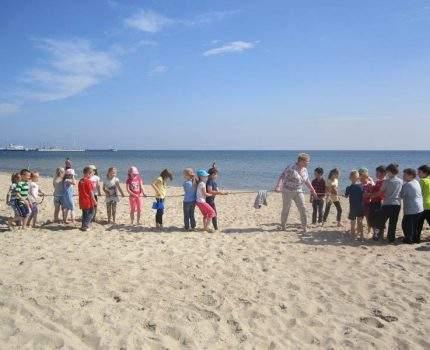 Wycieczka na plażę – klasa 1c i 2a
