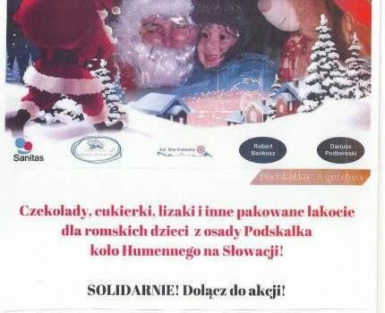 Romski Mikołaj – zbiórka słodyczy