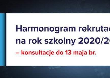 Terminy rekrutacji do szkół ponadpodstawowych na rok szkolny 2020/2021