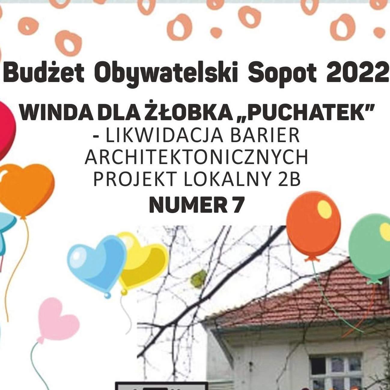"""GŁOSUJEMY w Budżecie Obywatelskim na projekt ,, Winda dla Żłobka """"Puchatek""""- likwidacja barier architektonicznych"""""""